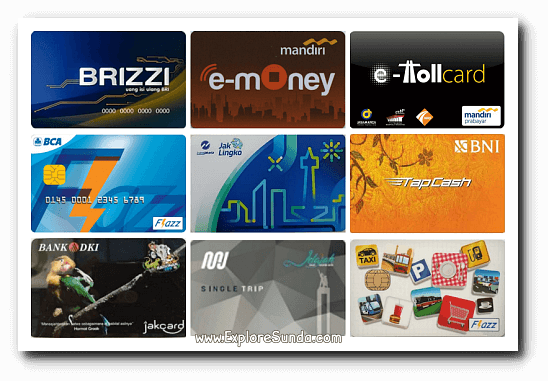 Prepaid cards that can be used for paying MRT fare: Jelajah from Jakarta MRT, e-money and e-toll card from Mandiri Bank, TapCash from BNI, Brizzi from BRI, Flazz from BCA, and JakCard from Bank DKI.