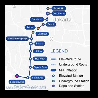 Jakarta MRT Route - Phase 1