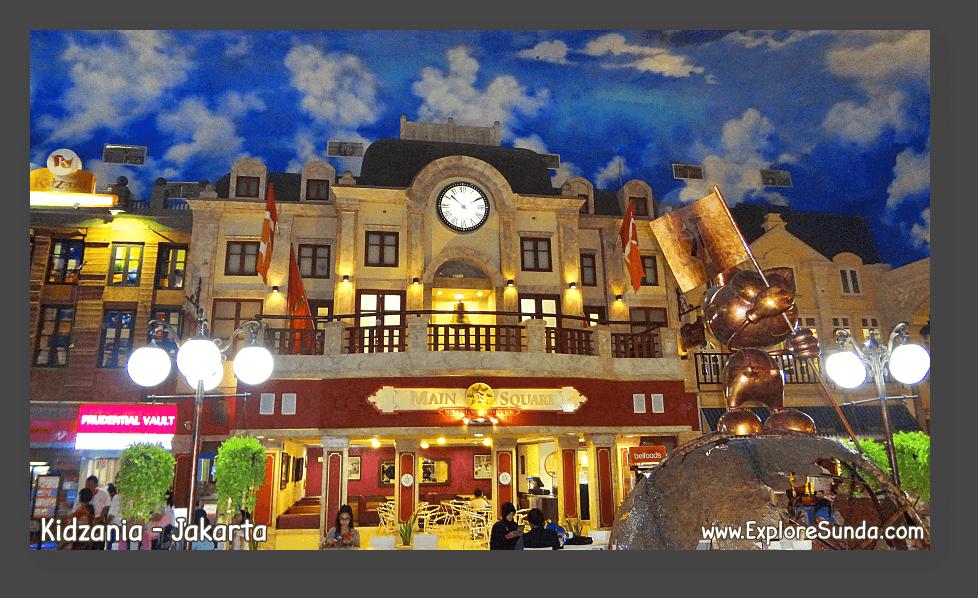The main square of Kidzania - Jakarta.