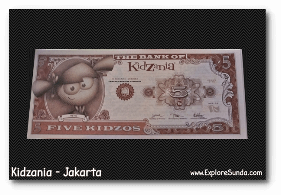 Kidzos, the currency in Kidzania - Jakarta.