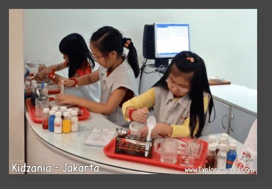 Work as pharmacists in Kidzania - Jakarta.