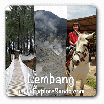 A list of recommended places of interest in Lembang
