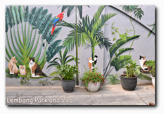 Beautifully painted wall at Lembang Park and Zoo