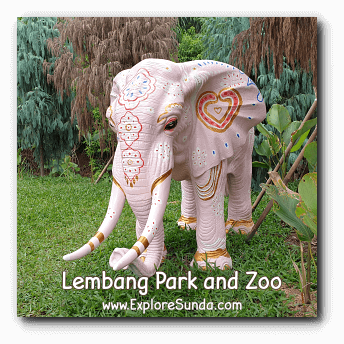 A Decorated Elephant Statue at Lembang Park and Zoo