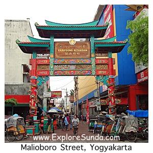 Kampung Ketandan at Malioboro Street, Yogyakarta