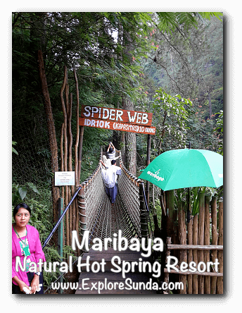 Spider Web at Maribaya Natural Hot Spring Resort, Lembang