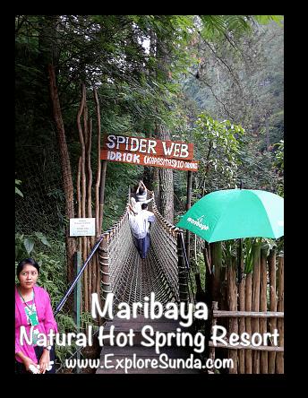 Spider Web at Maribaya Natural Hot Spring Resort, Lembang