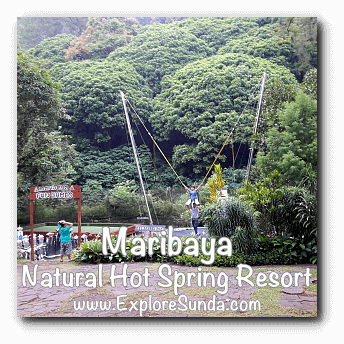 Trampoline at Maribaya Natural Hot Spring Resort, Lembang