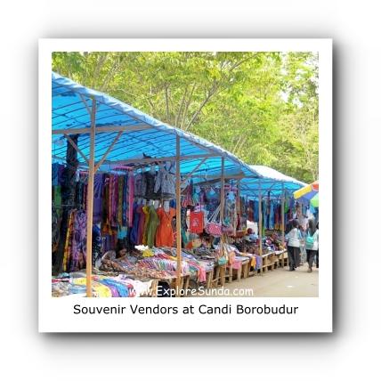 Souvenir vendors at Candi Borobudur