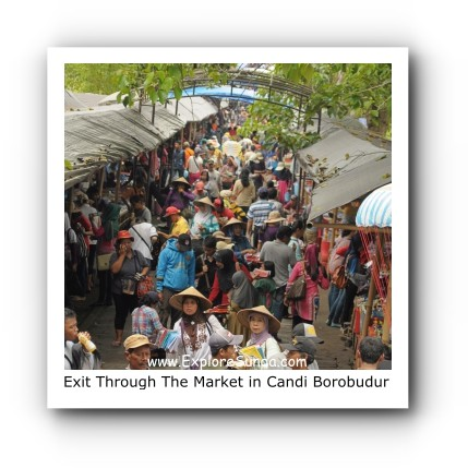 Exit through the market in Candi Borobudur
