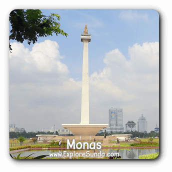 Monas - Monumen Nasional (the National Monument), the landmark of Jakarta.