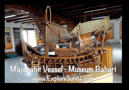 A replica of Majapahit vessel in Museum Bahari