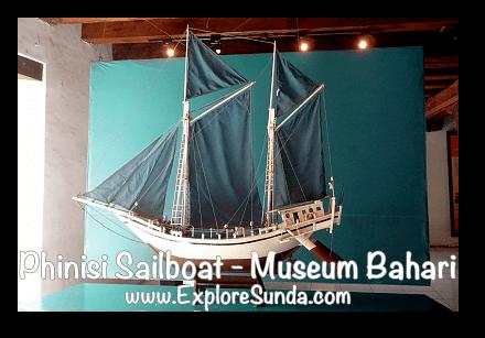 A miniature of Phinisi sailboat in Museum Bahari