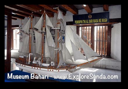 A miniature vessel in Museum Bahari, Kota Tua Jakarta