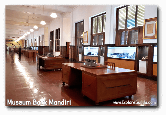 The layout of the bank's back office in Museum Bank Mandiri is still the same as it used to be for hundred years.