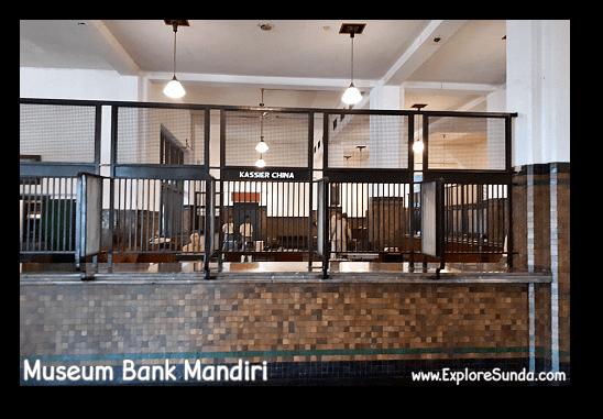 The teller booth in Museum Bank Mandiri at Kota Tua Jakarta