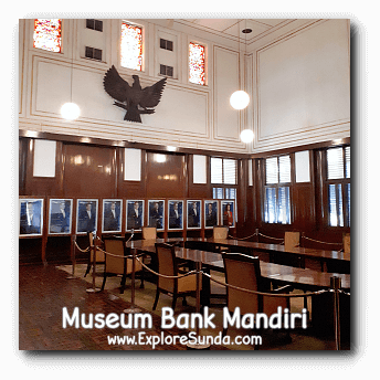 One of the meeting rooms in the second floor of Museum Bank Mandiri at Kota Tua Jakarta.
