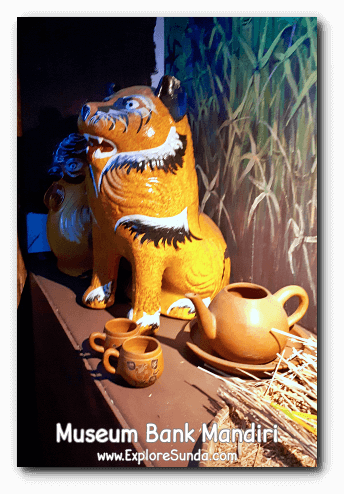 Piggybank or tigerbank? ;-) The display of various piggybanks in Museum Bank Mandiri at Kota Tua Jakarta