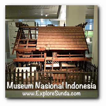 Miniature of Betang house from Kalimantan - a collection of Museum Gajah (The National Museum of Indonesia), Jakarta