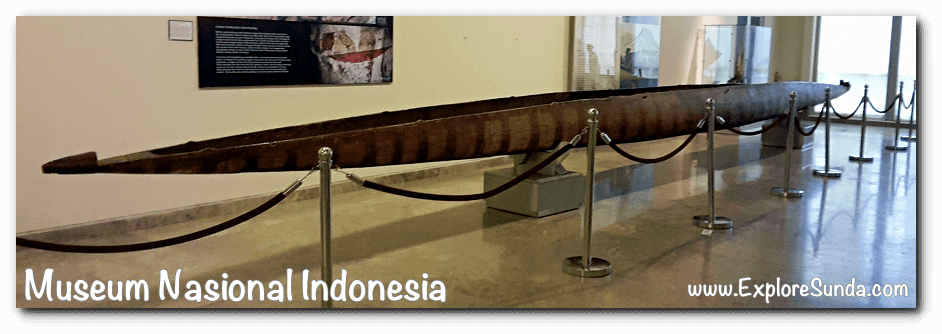 Traditional boat - a collection of Museum Gajah (The National Museum of Indonesia), Jakarta