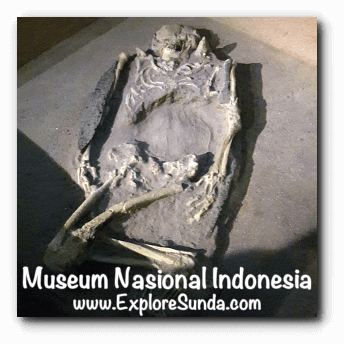 A replica of prehistoric burial site found in Jembrana, Bali - a collection of Museum Gajah (The National Museum of Indonesia), Jakarta
