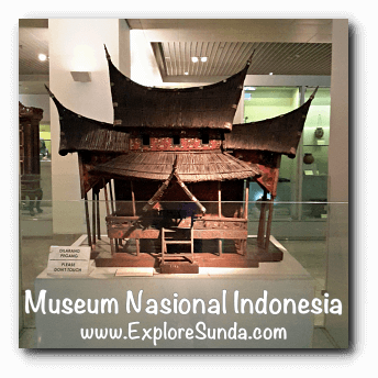 Miniature of Gadang house from Sumatera - a collection of Museum Gajah (The National Museum of Indonesia), Jakarta