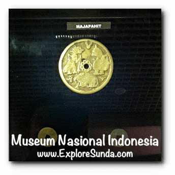 A gold coin from Majapahit kingdom - a collection of Museum Gajah (The National Museum of Indonesia), Jakarta