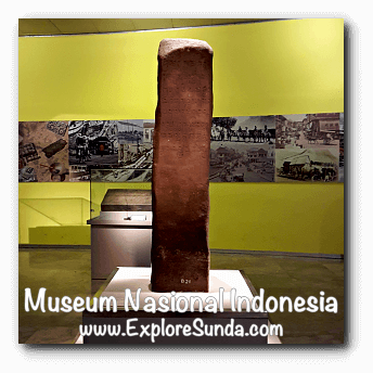 Mulavarman inscription from East Kalimantan dated early 5th century - a collection of Museum Gajah (The National Museum of Indonesia), Jakarta