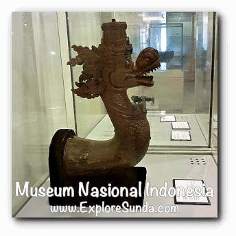 Bronze waterspout in the shape of dragon from Cirebon, West Java - a collection of Museum Gajah (The National Museum of Indonesia), Jakarta