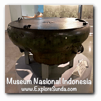 Nekara, a bronze kettle drum from Rote, East Nusa Tenggara - a collection of Museum Gajah (The National Museum of Indonesia), Jakarta