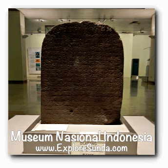 An inscription from Prambanan, Central Java dated early 10th century - a collection of Museum Gajah (The National Museum of Indonesia), Jakarta