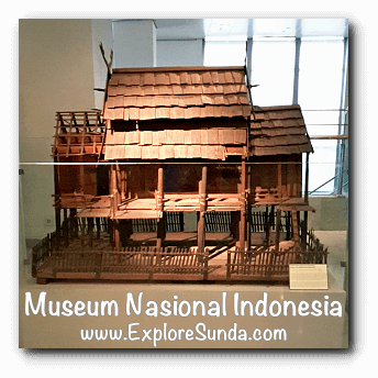 Miniature of traditional house - a collection of Museum Gajah (The National Museum of Indonesia), Jakarta