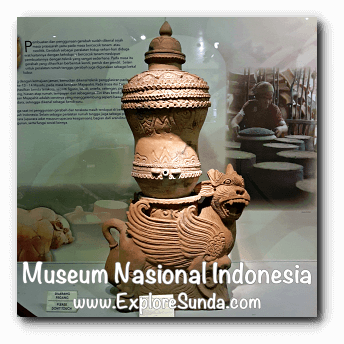 Padasan Singabarong (water container in the shape of a lion) from Cirebon, West Java - a collection of Museum Gajah (The National Museum of Indonesia), Jakarta