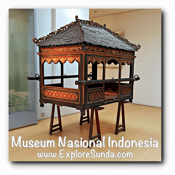 Palanquin - a collection of Museum Gajah (The National Museum of Indonesia), Jakarta