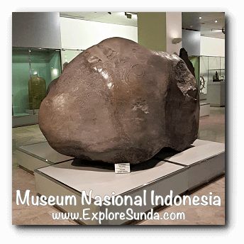 Ciaruteun inscription from West Java - a collection of Museum Gajah (The National Museum of Indonesia), Jakarta