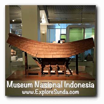 Miniature of Tongkonan house from Sulawesi - a collection of Museum Gajah (The National Museum of Indonesia), Jakarta
