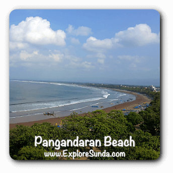 Pangandaran Beach, the most popular beach in West Java.