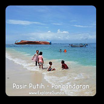 Pasir Putih beach inside Pananjung Nature Reserve, Pangandaran.
