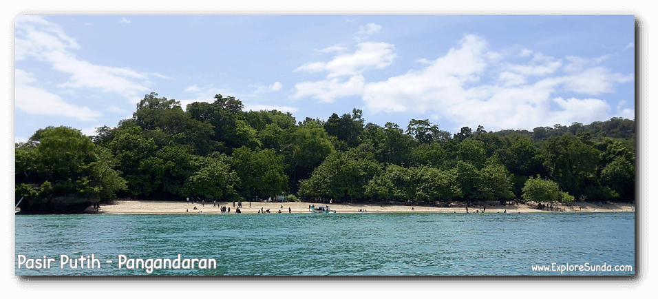 Pasir Putih, Pangandaran | A view to behold when we approach it from the sea.