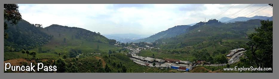 Puncak Pass, a view from Rindu Alam Restaurant