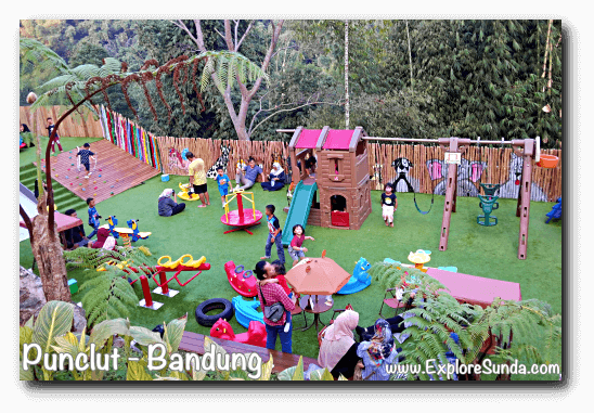 Lower playground at D'Dieuland in Kawasan Wisata Punclut Bandung