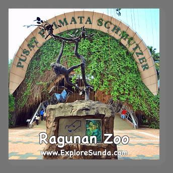 The gate to Schmutzer Primate Center in Ragunan Zoo, Jakarta.
