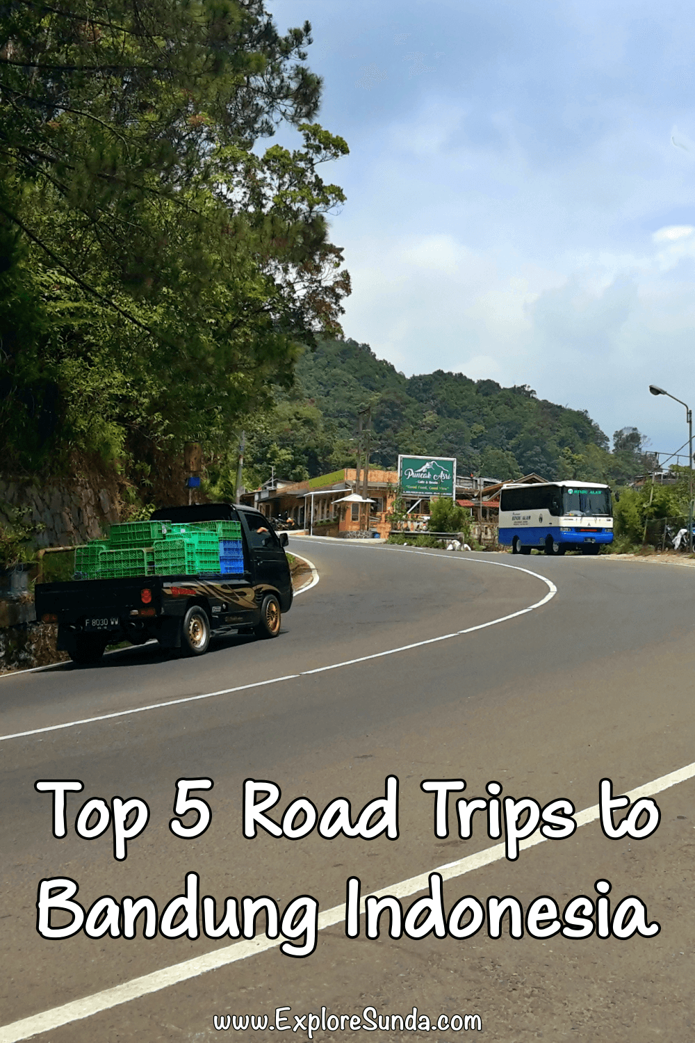 The Best Five Road Trips to Bandung Indonesia | Are you planning a trip to Bandung Indonesia? Consider driving/renting a car and go for a road trip to explore interesting places on your way to Bandung