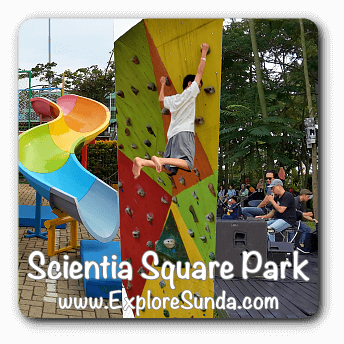 Scientia Square Park in the district of Tangerang