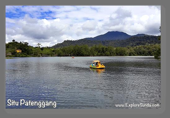 Mountains and Active Volcano in Sunda: an ancient crater at Situ Patenggang, Bandung.