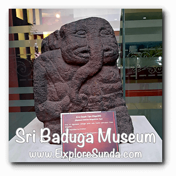 Elephant statue from Megalithic period at Sri Baduga Museum, Bandung