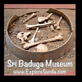 Replica of bones from an ancient burial site in Sri Baduga Museum, Bandung