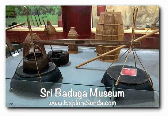 Display of traditional fishing equipment at Sri Baduga Museum, Bandung