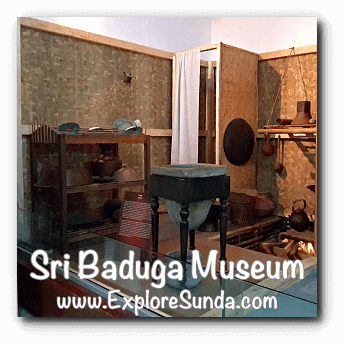 A model of old kitchen in Sri Baduga Museum, Bandung