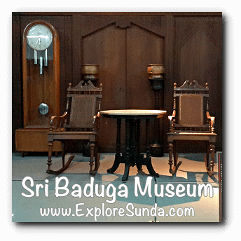 A model of old living room in Sri Baduga Museum, Bandung